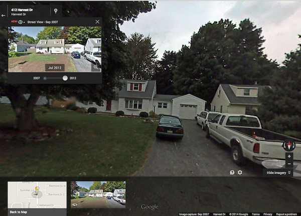 409 Harvest Drive Rochester, NY (Google Maps Street View 2007  and  2012)