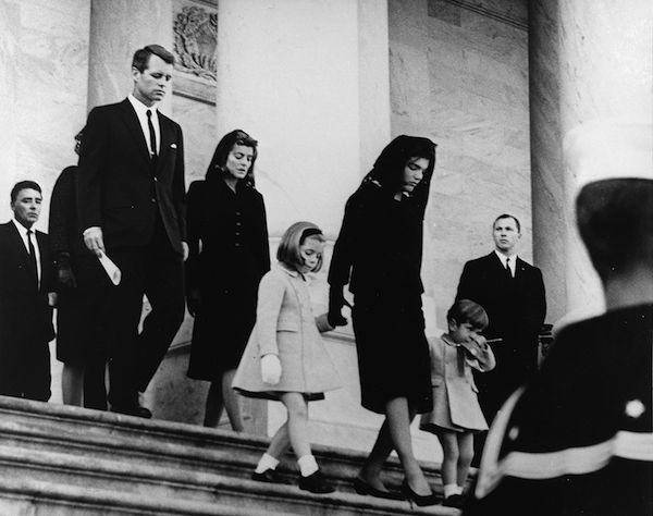 JFK's family leaves Capitol after his funeral, 1963 (Abbie Rowe White House Photographs, Public Domain)